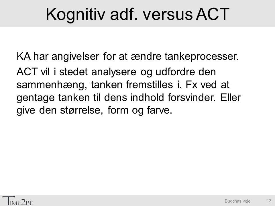Kognitiv adf. versus ACT