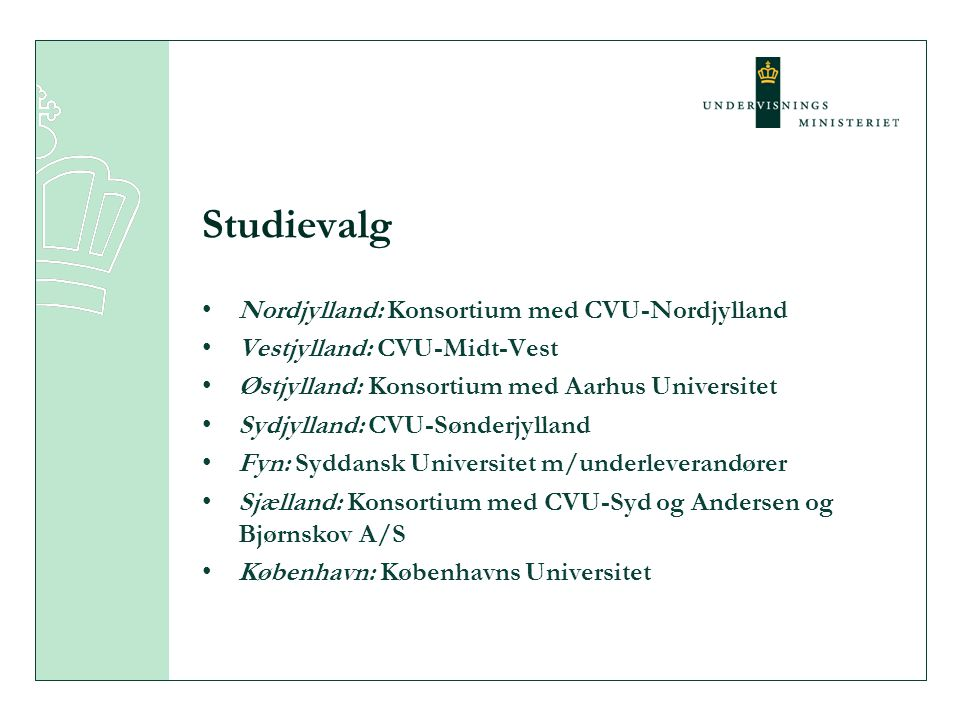 Studievalg Nordjylland: Konsortium med CVU-Nordjylland