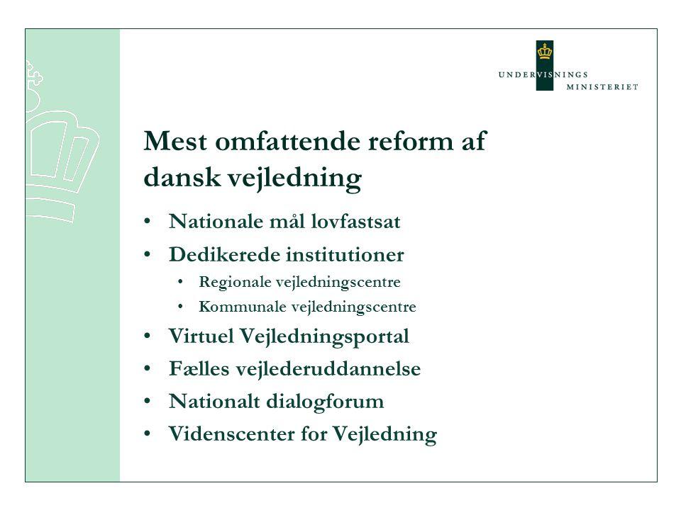 Mest omfattende reform af dansk vejledning