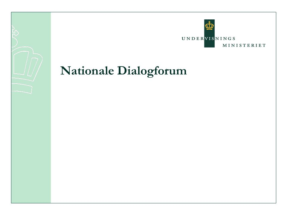 Nationale Dialogforum