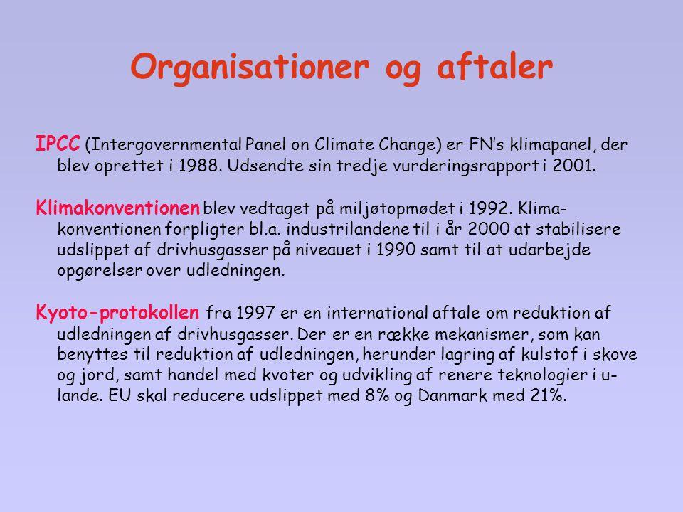 Organisationer og aftaler
