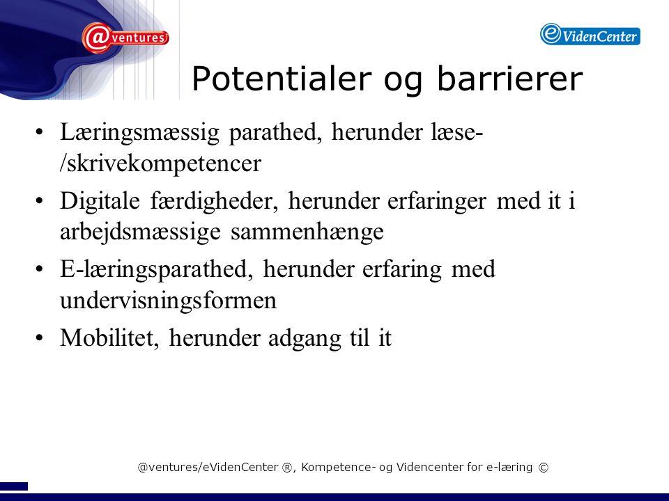 Potentialer og barrierer