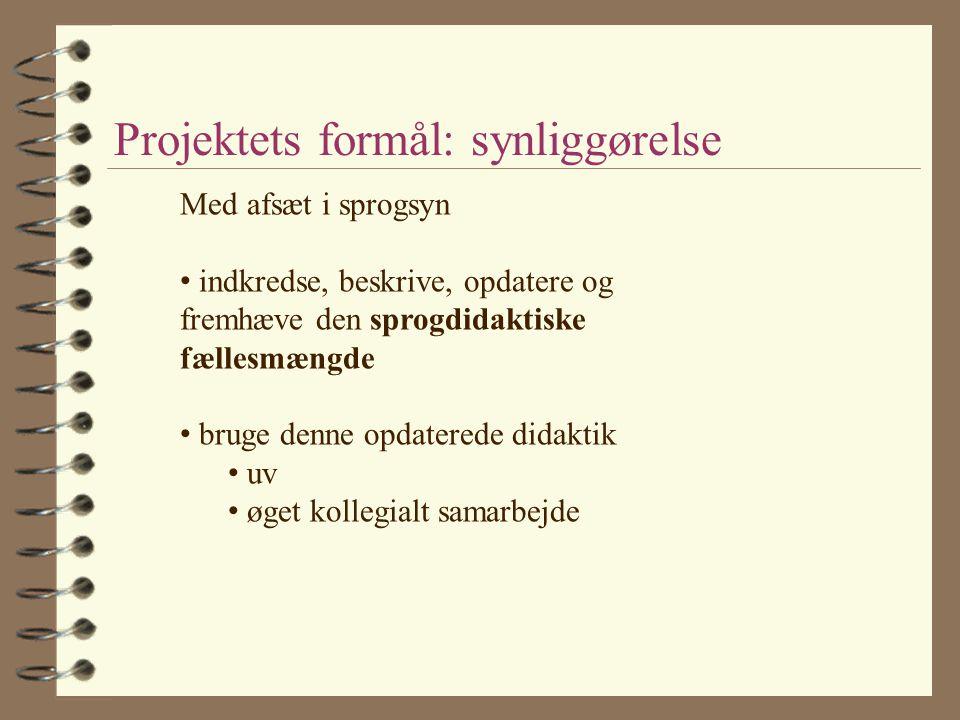 Projektets formål: synliggørelse
