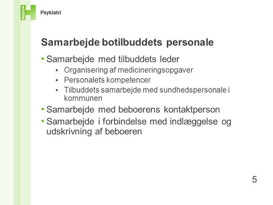 Samarbejde botilbuddets personale