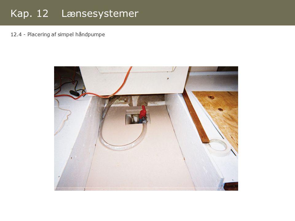 Kap. 12 Lænsesystemer 12.4 - Placering af simpel håndpumpe