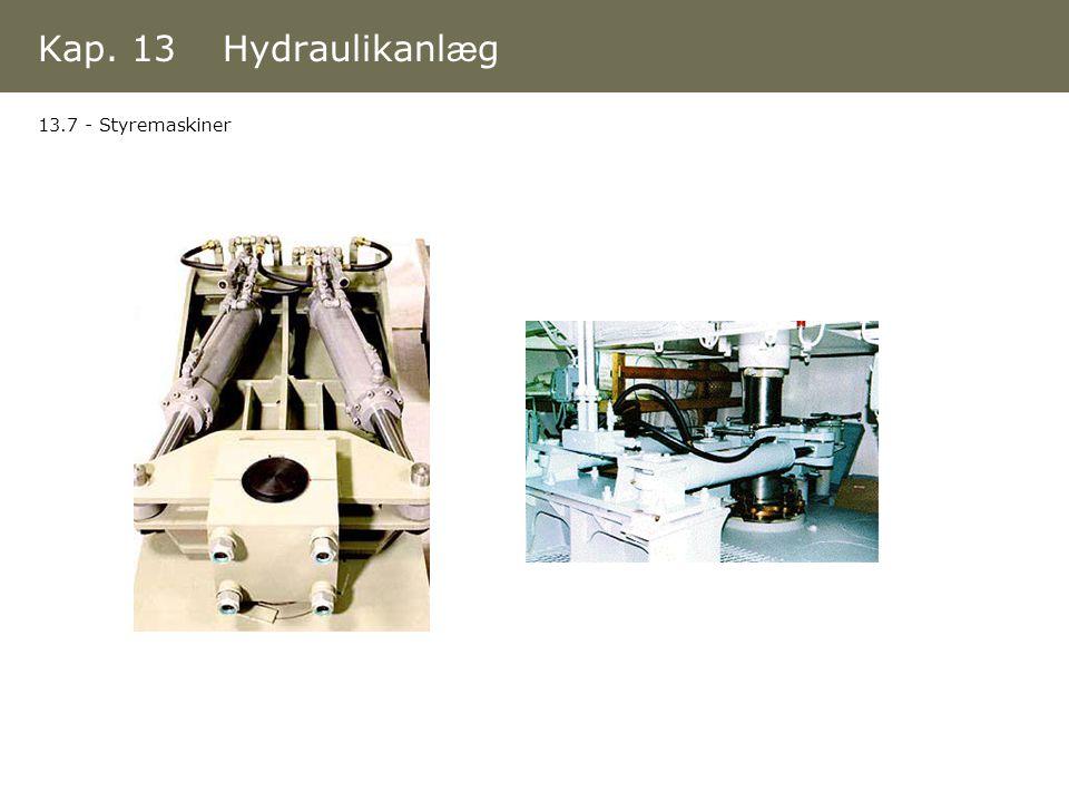 Kap. 13 Hydraulikanlæg 13.7 - Styremaskiner