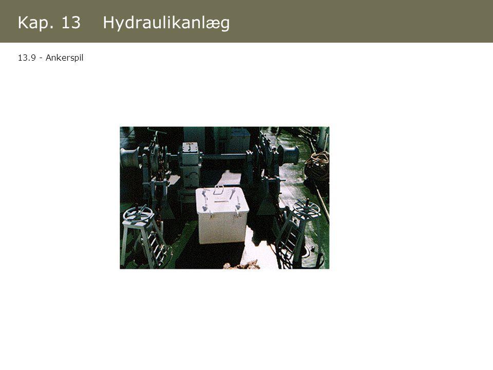 Kap. 13 Hydraulikanlæg 13.9 - Ankerspil