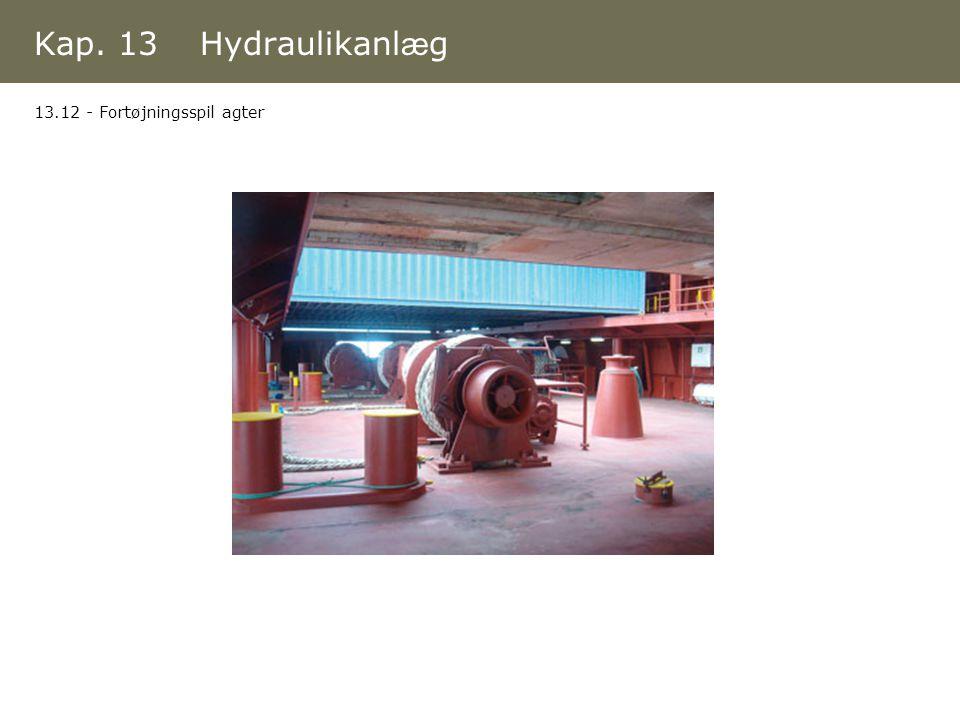 Kap. 13 Hydraulikanlæg 13.12 - Fortøjningsspil agter