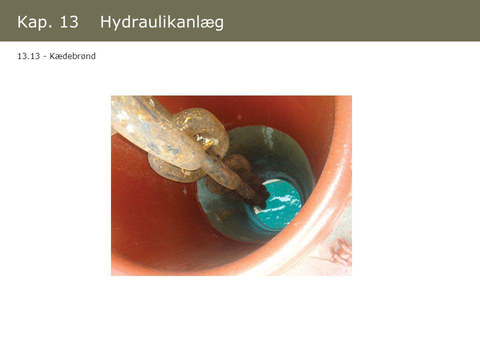 Kap. 13 Hydraulikanlæg 13.13 - Kædebrønd