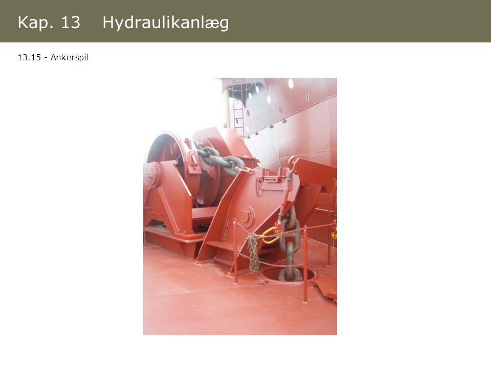 Kap. 13 Hydraulikanlæg 13.15 - Ankerspil