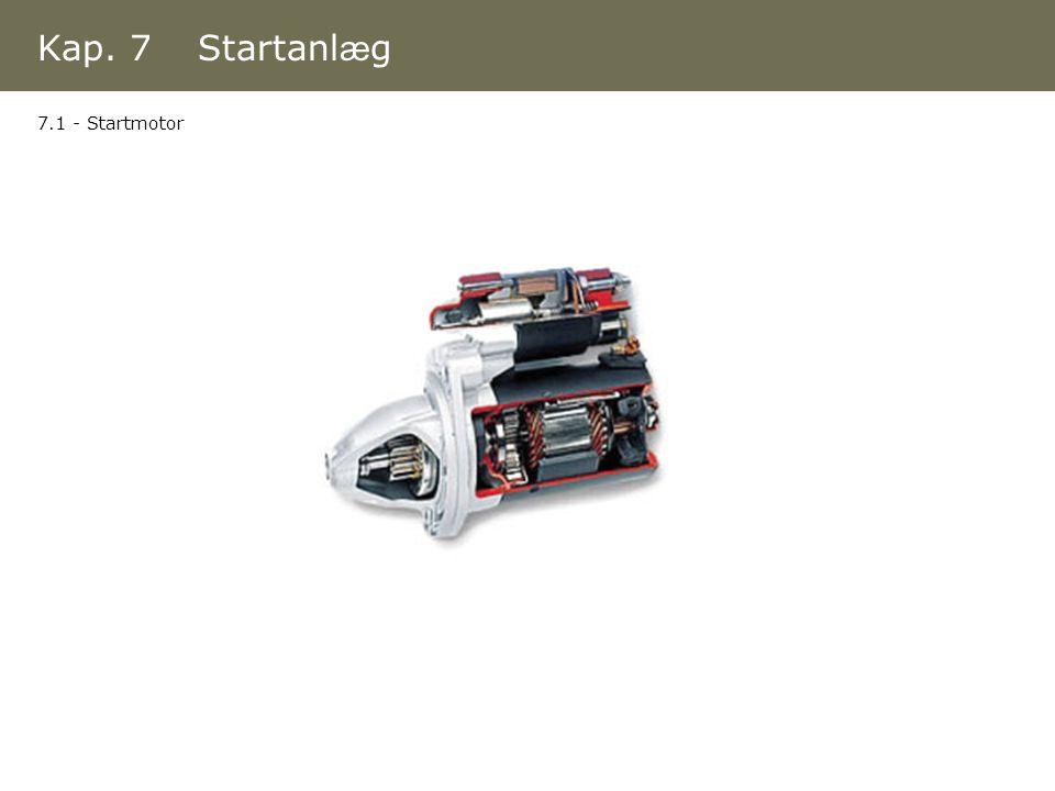 Kap. 7 Startanlæg 7.1 - Startmotor