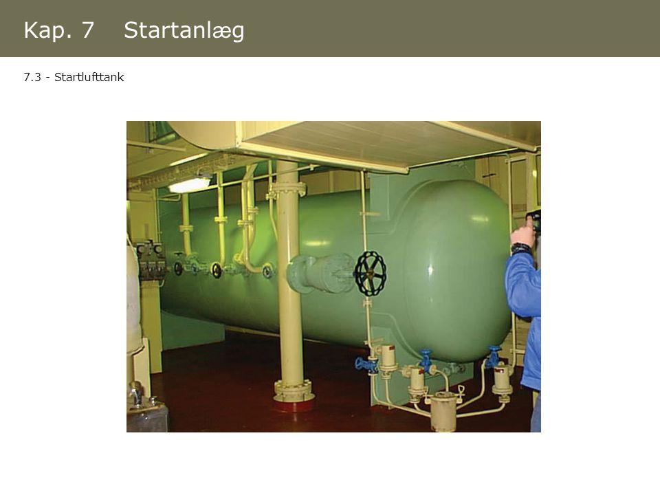 Kap. 7 Startanlæg 7.3 - Startlufttank