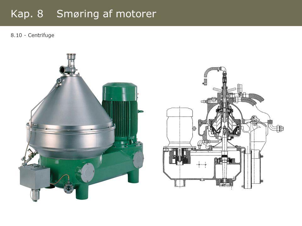 Kap. 8 Smøring af motorer 8.10 - Centrifuge