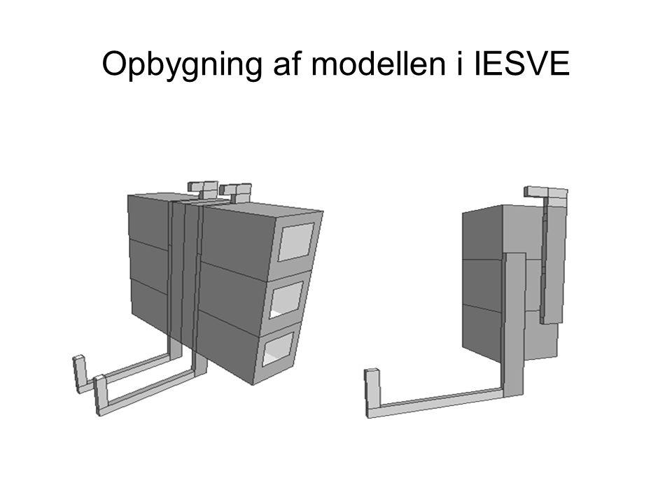 Opbygning af modellen i IESVE