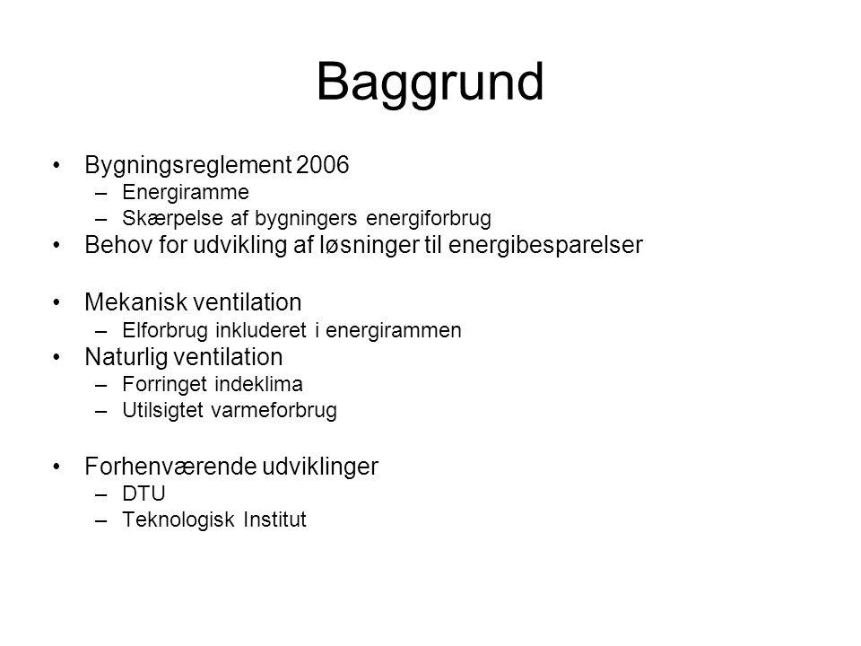 Baggrund Bygningsreglement 2006