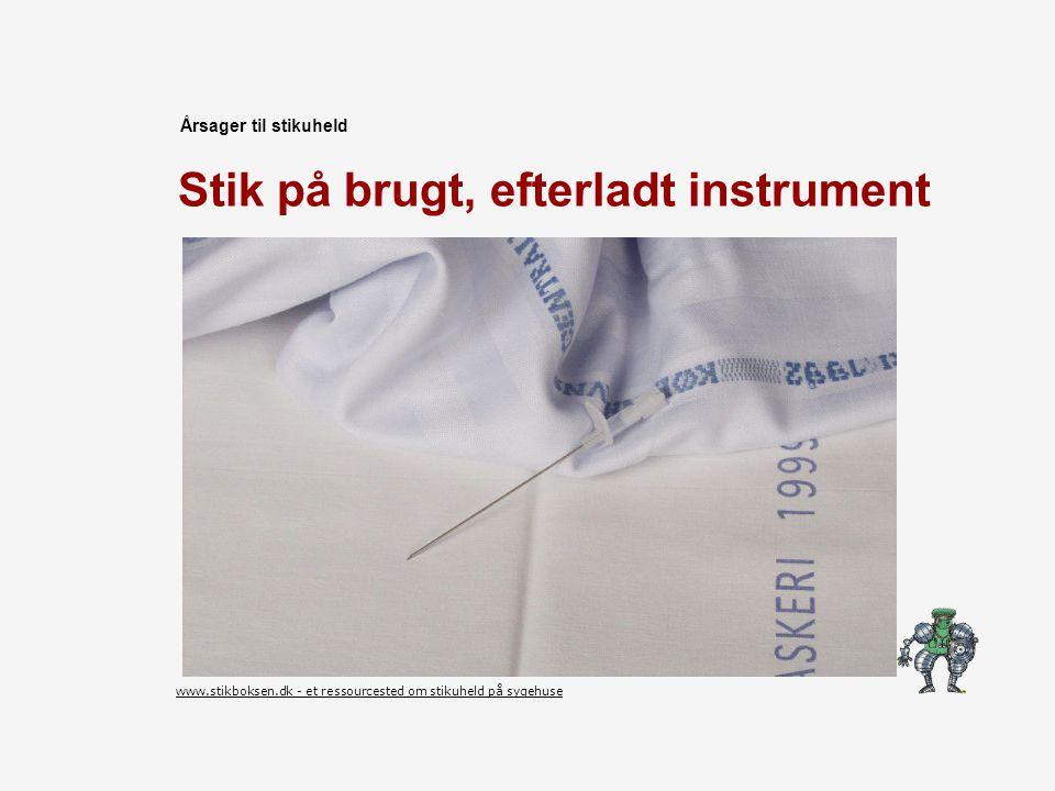 Stik på brugt, efterladt instrument