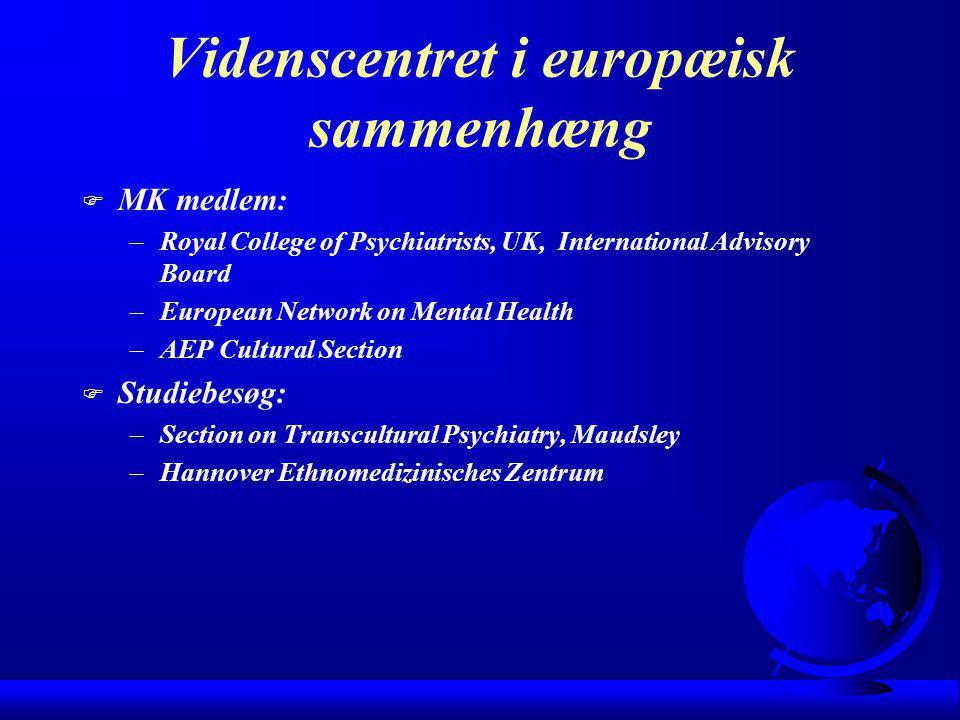 Videnscentret i europæisk sammenhæng