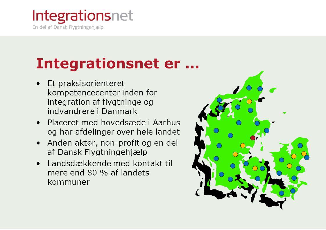 Integrationsnet er … Et praksisorienteret kompetencecenter inden for integration af flygtninge og indvandrere i Danmark.