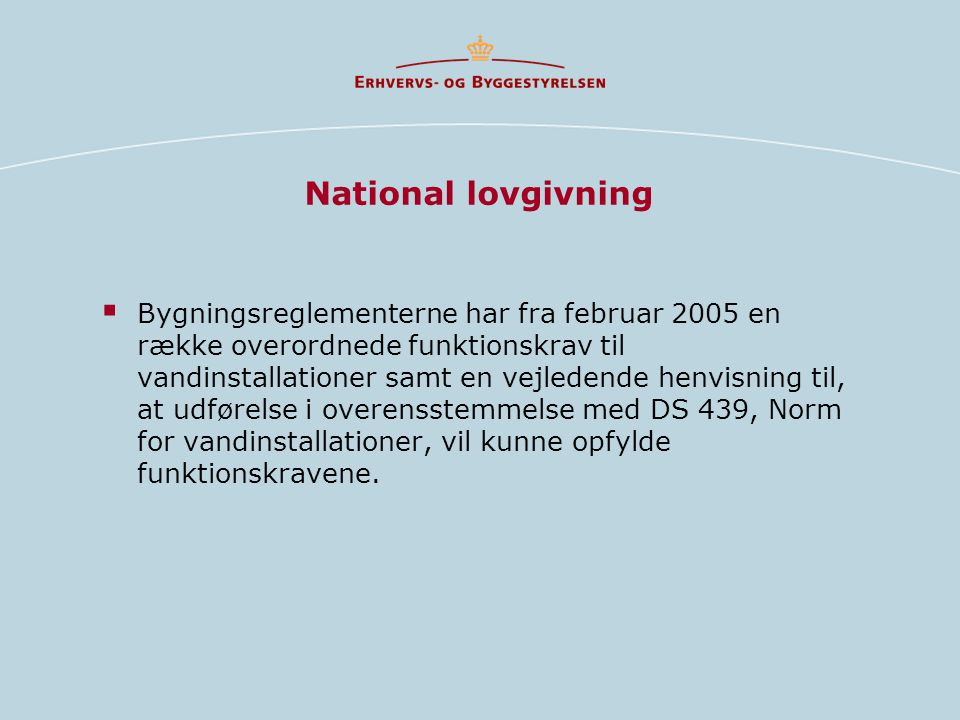 National lovgivning
