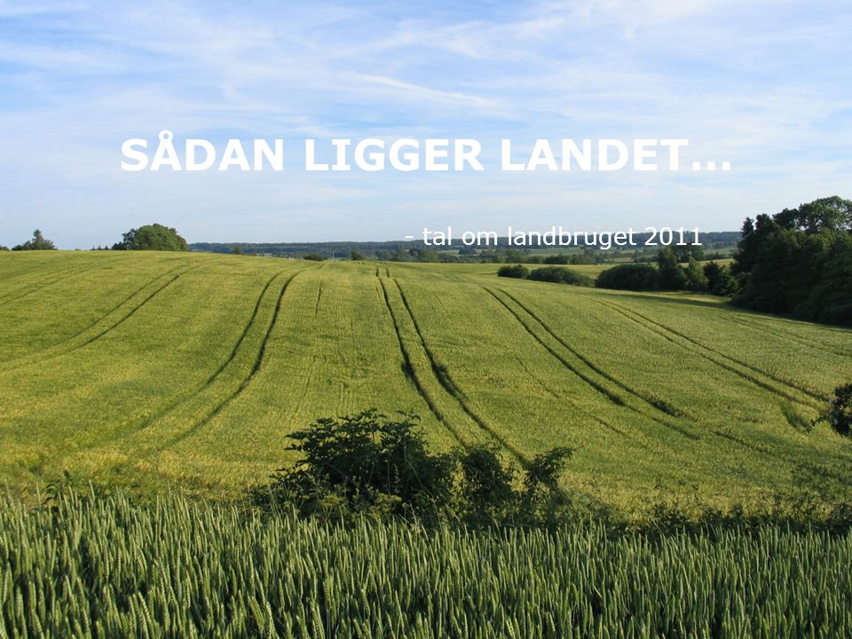 SÅDAN LIGGER LANDET… - tal om landbruget 2011