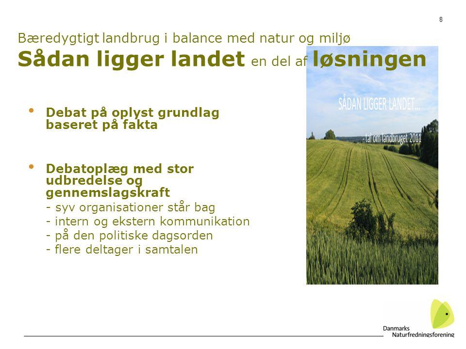Bæredygtigt landbrug i balance med natur og miljø Sådan ligger landet en del af løsningen