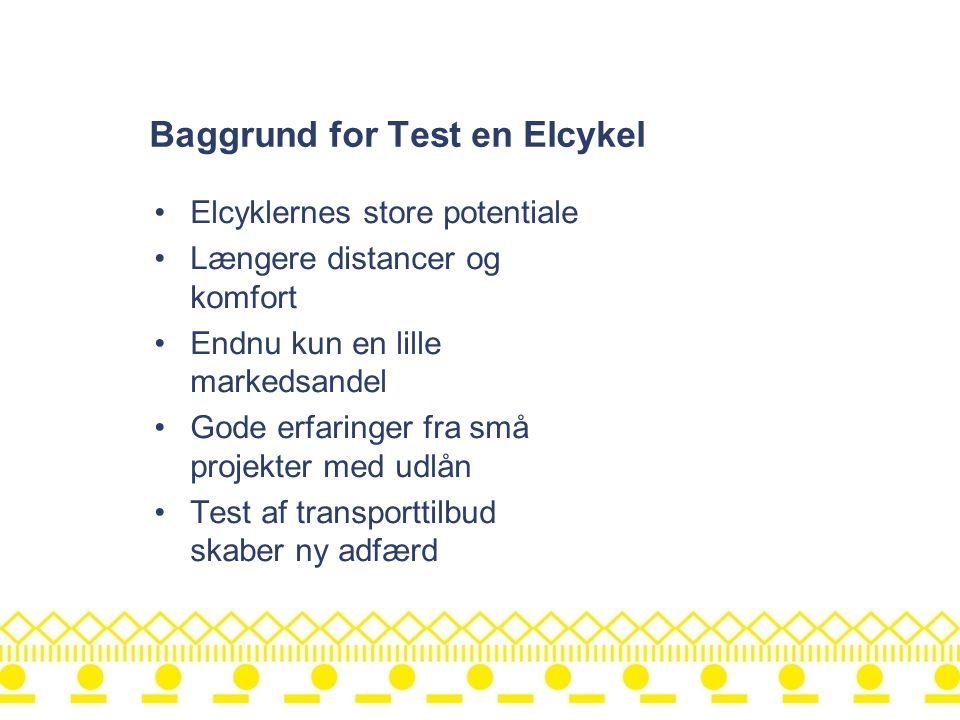 Baggrund for Test en Elcykel