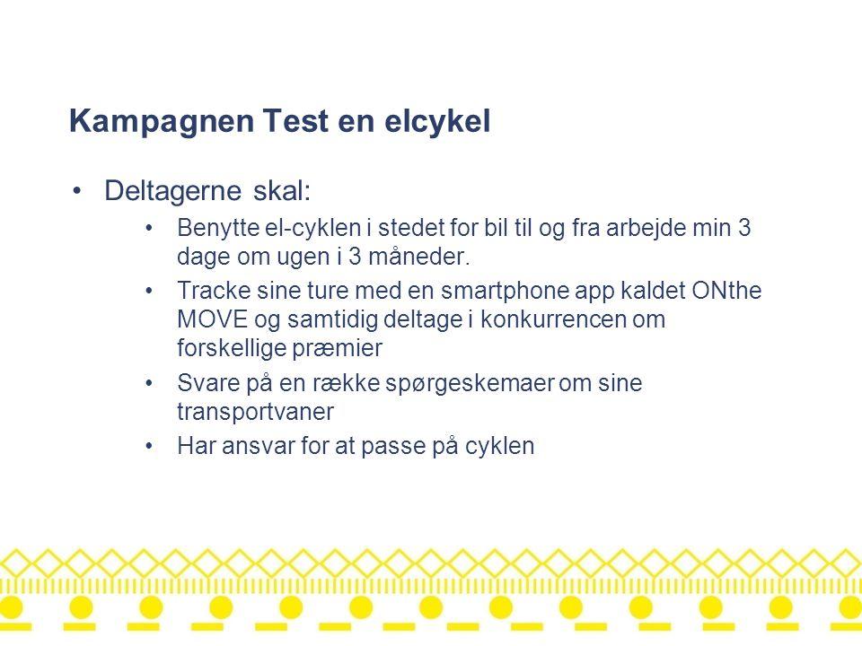 Kampagnen Test en elcykel