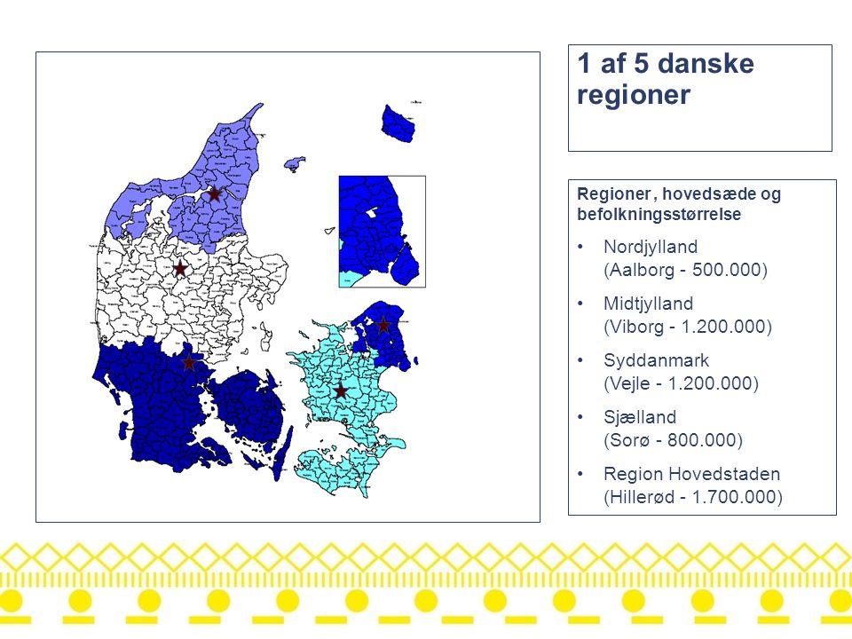 1 af 5 danske regioner Nordjylland (Aalborg - 500.000)