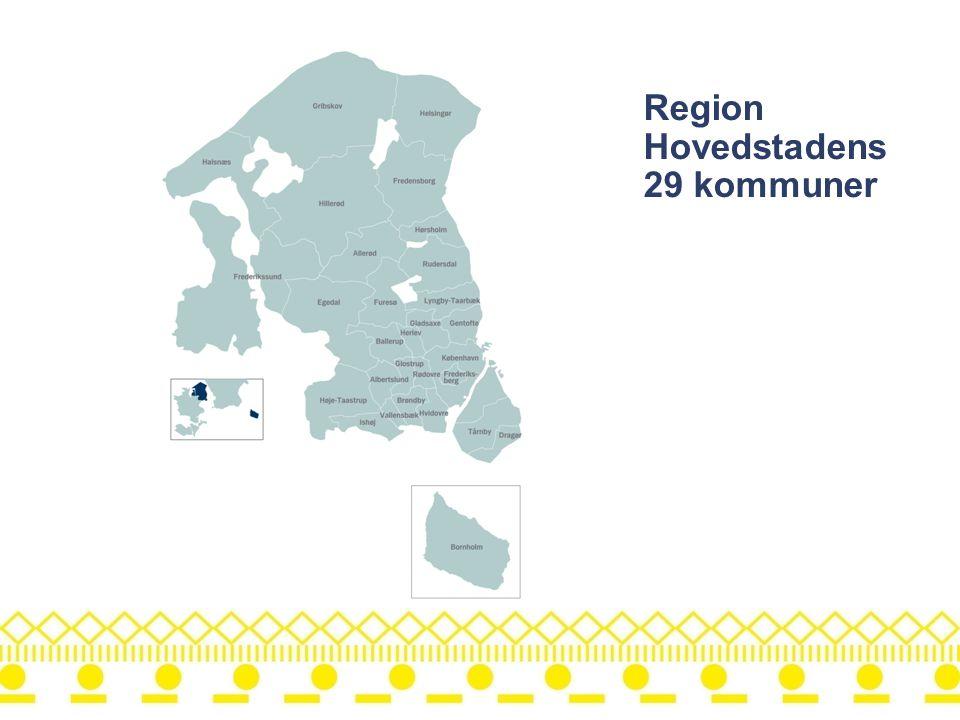Region Hovedstadens 29 kommuner