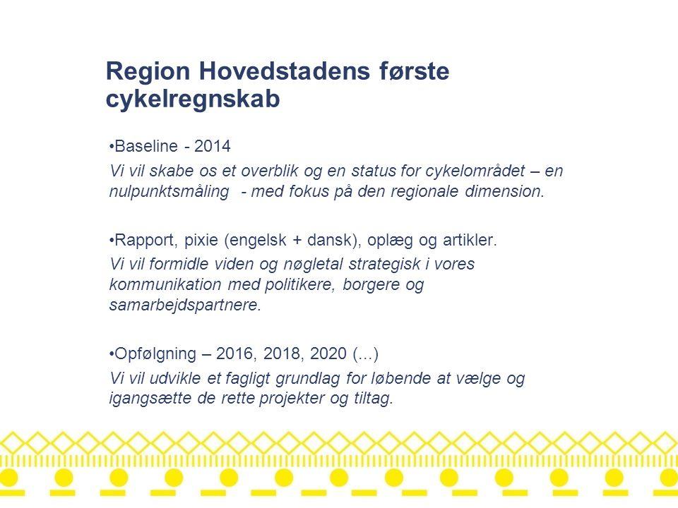 Region Hovedstadens første cykelregnskab