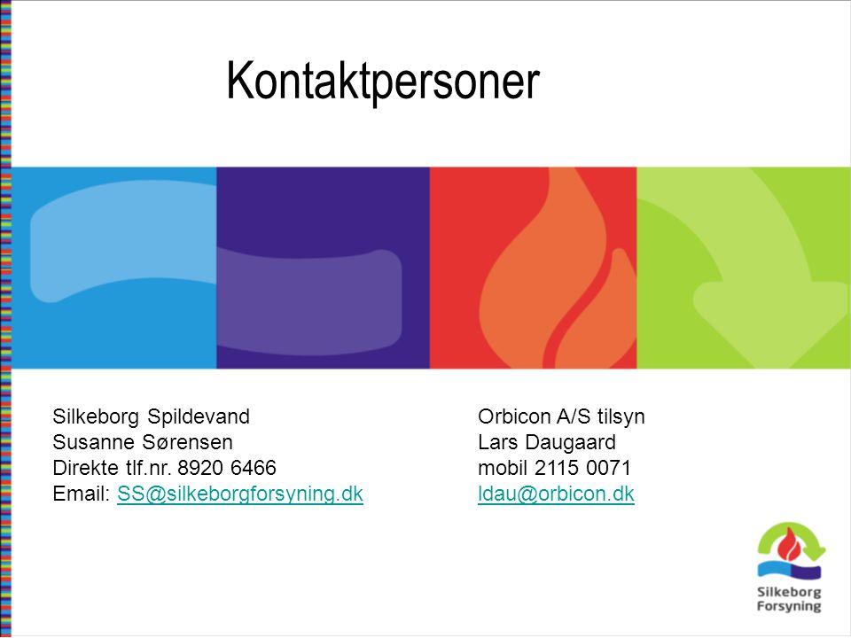Kontaktpersoner Silkeborg Spildevand Orbicon A/S tilsyn
