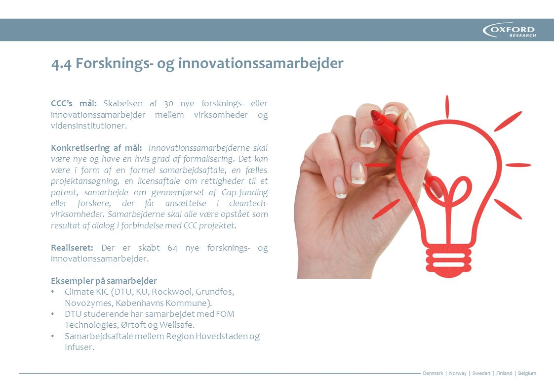 4.4 Forsknings- og innovationssamarbejder