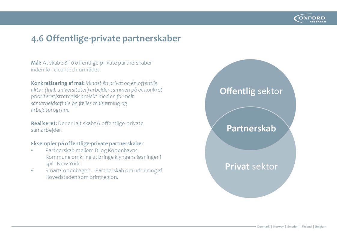 4.6 Offentlige-private partnerskaber