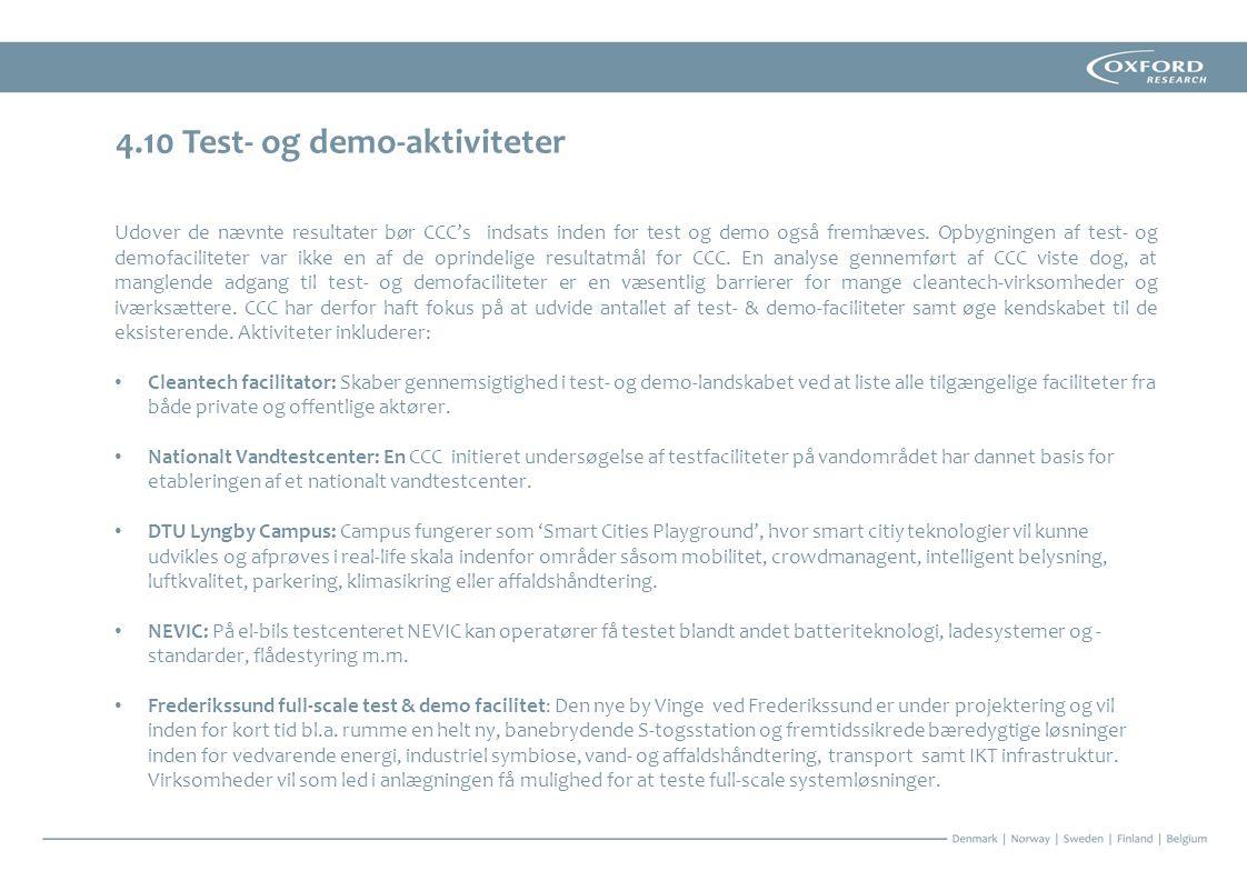 4.10 Test- og demo-aktiviteter