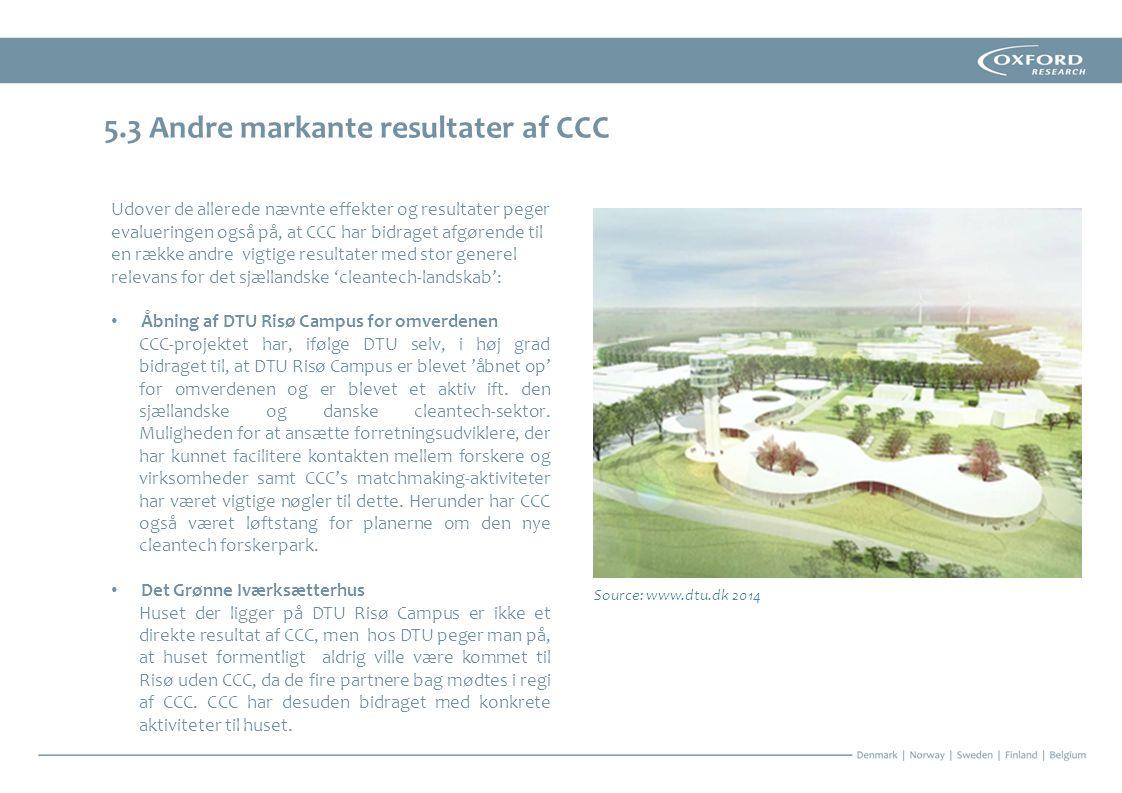 5.3 Andre markante resultater af CCC