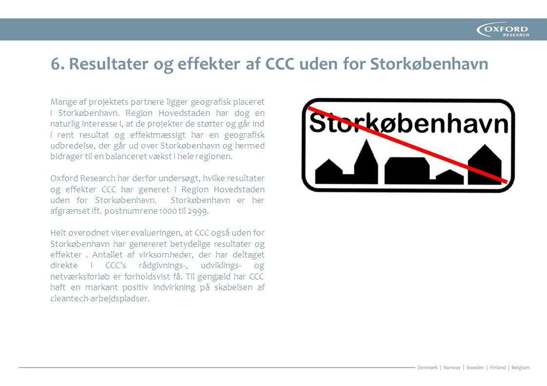 6. Resultater og effekter af CCC uden for Storkøbenhavn