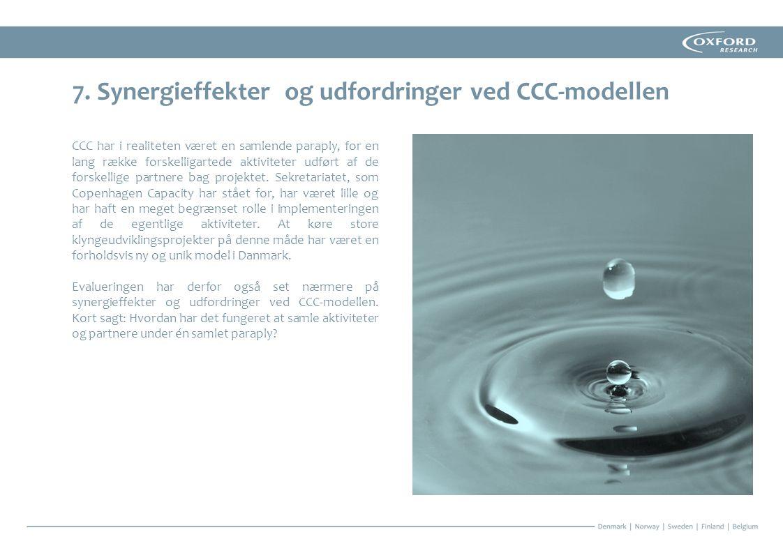 7. Synergieffekter og udfordringer ved CCC-modellen