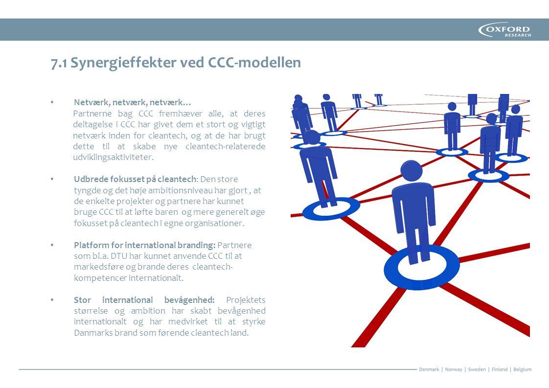 7.1 Synergieffekter ved CCC-modellen