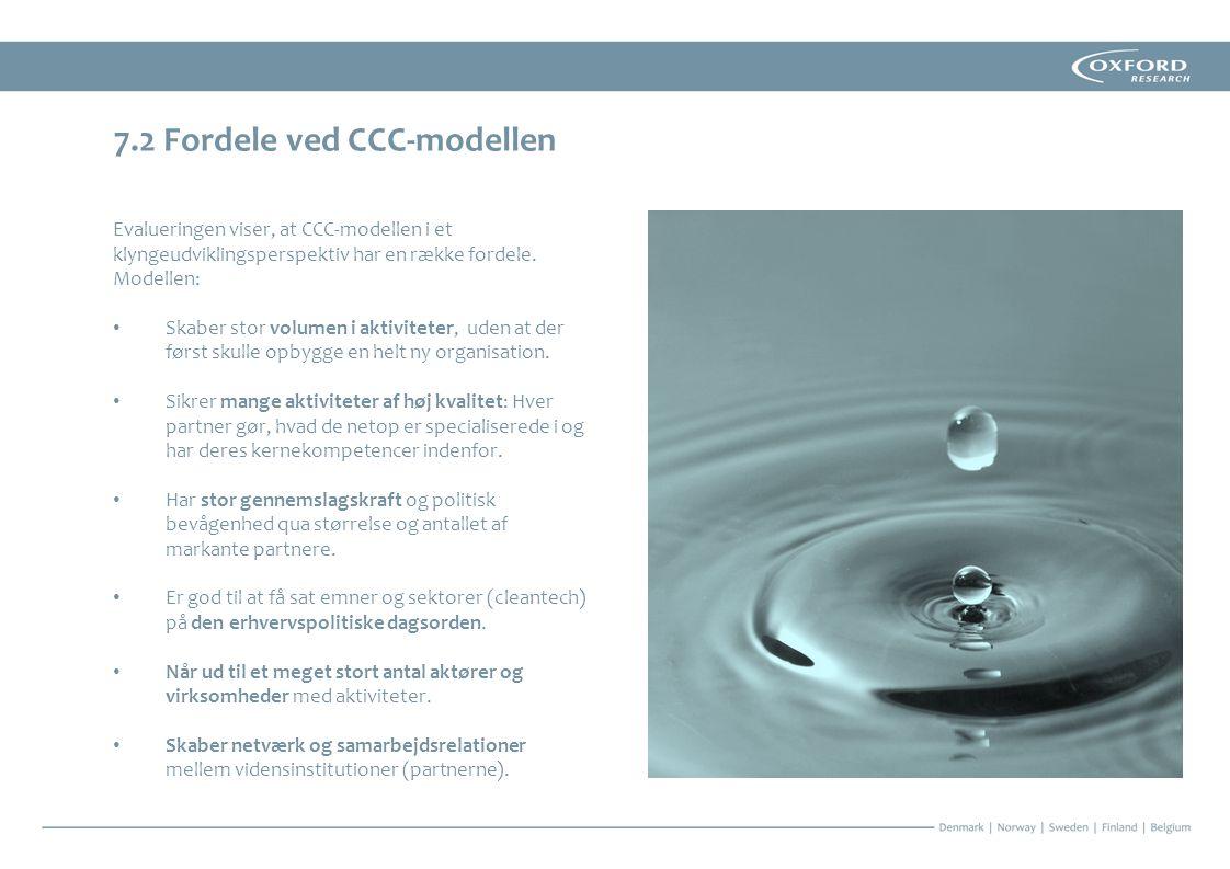 7.2 Fordele ved CCC-modellen