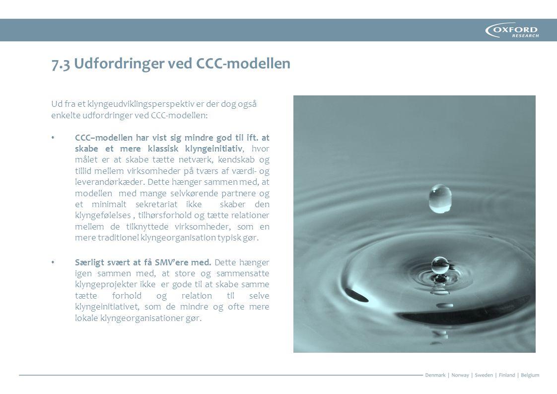 7.3 Udfordringer ved CCC-modellen
