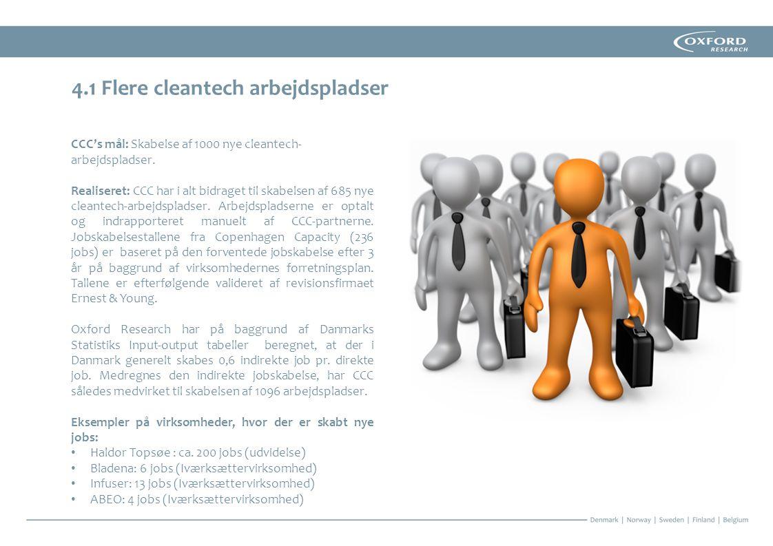 4.1 Flere cleantech arbejdspladser