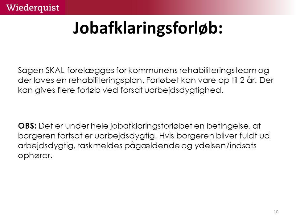 Jobafklaringsforløb: