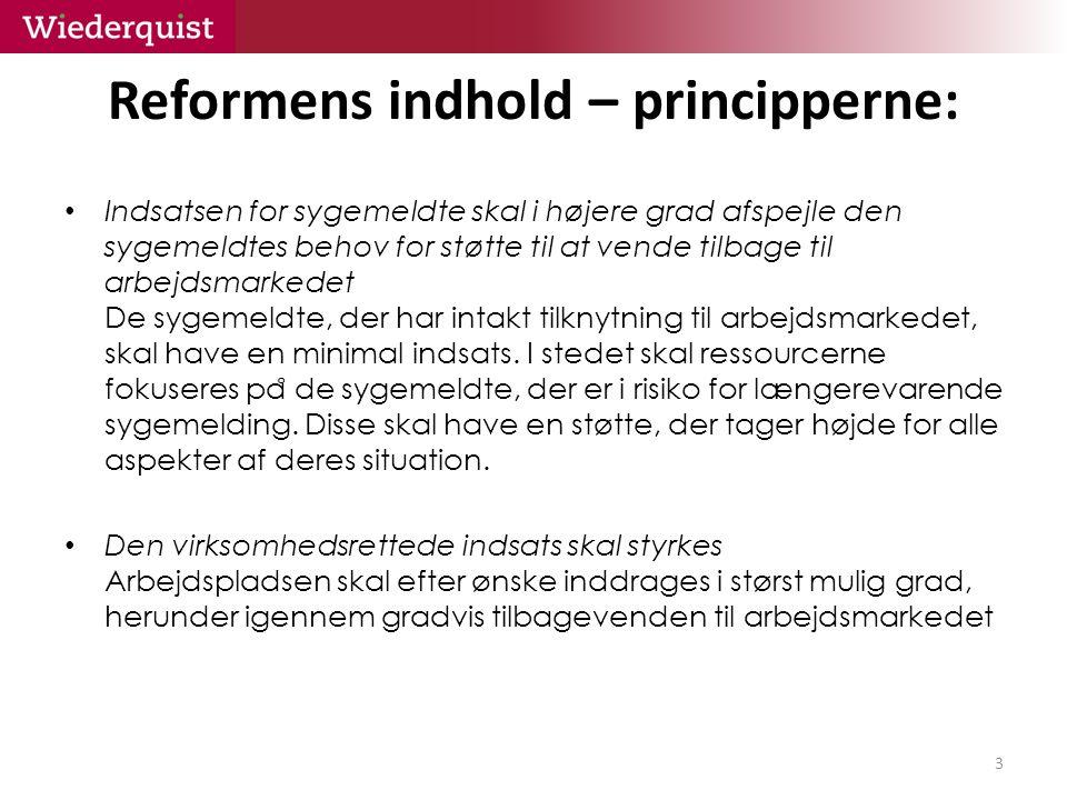 Reformens indhold – principperne: