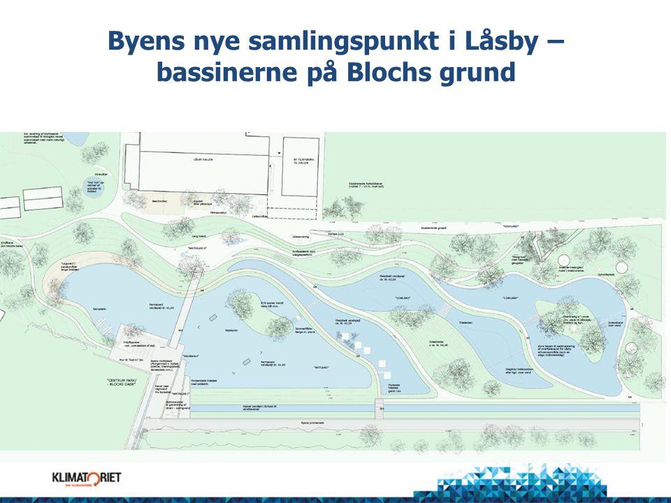 Byens nye samlingspunkt i Låsby – bassinerne på Blochs grund