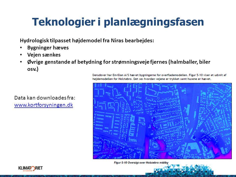 Teknologier i planlægningsfasen