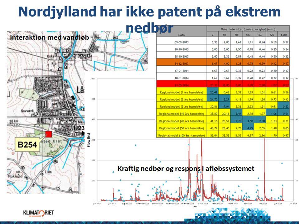 Nordjylland har ikke patent på ekstrem nedbør