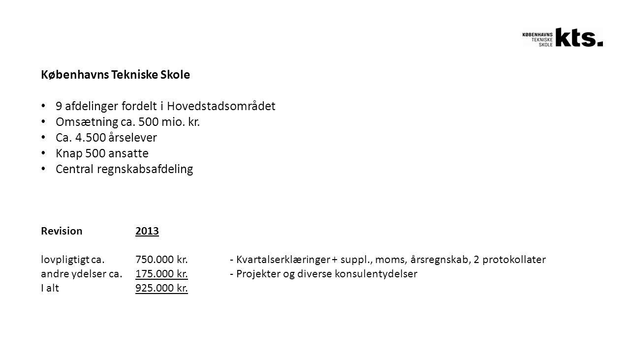 Københavns Tekniske Skole 9 afdelinger fordelt i Hovedstadsområdet