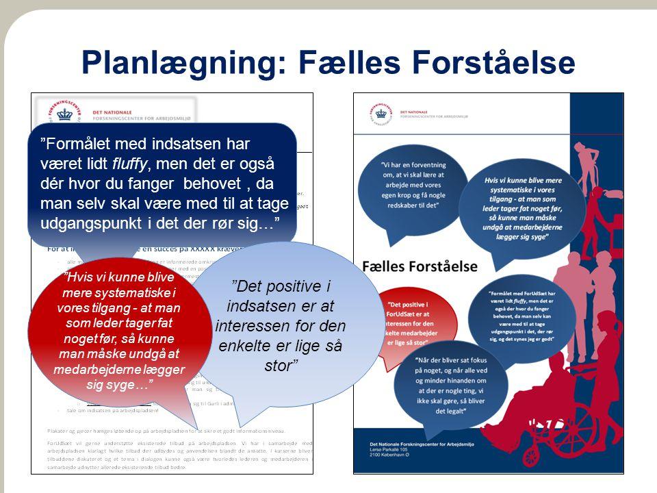 Planlægning: Fælles Forståelse