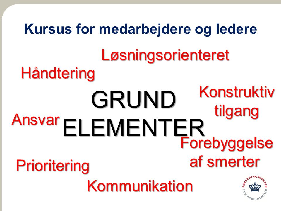 Kursus for medarbejdere og ledere