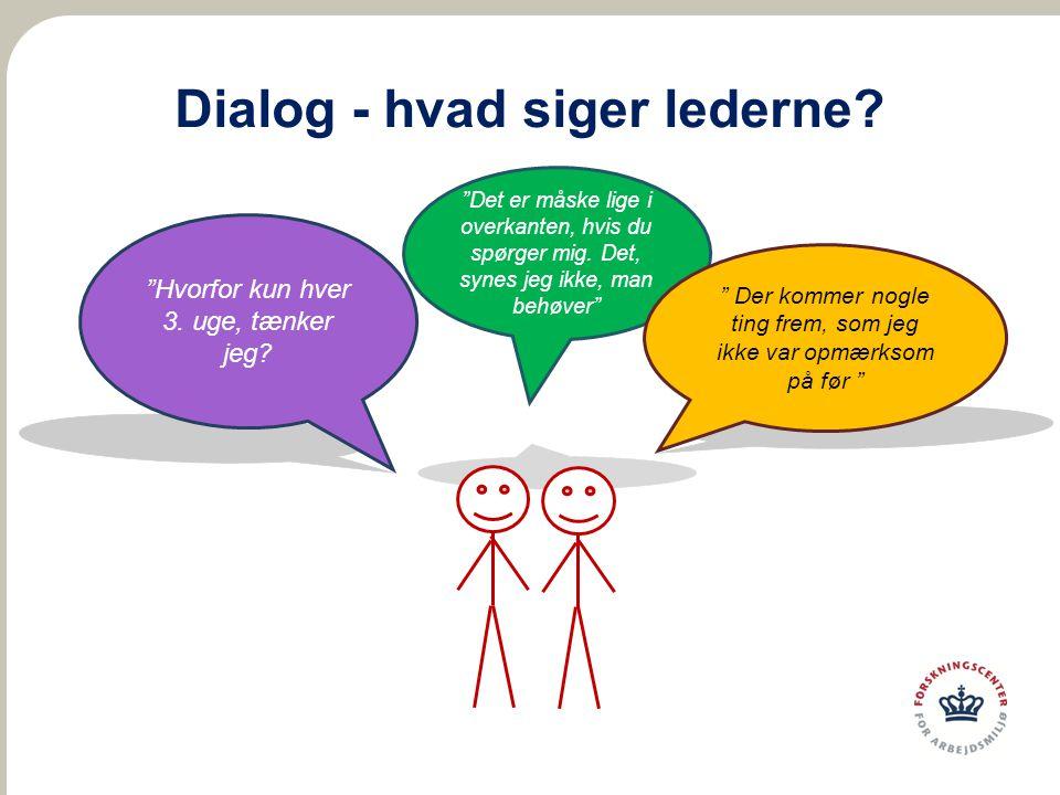 Dialog - hvad siger lederne